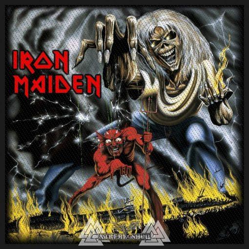 Iron Maiden - Number Of The Beast szövött felvarró