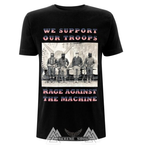RAGE AGAINST THE MACHINE - WE SUPPORT OUR TROOPS PÓLÓ