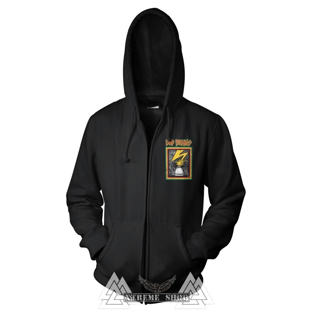 b71d2929c9 BAD BRAINS - BAD BRAINS cipzáras kapucnis pulóver - Xtreme Shop