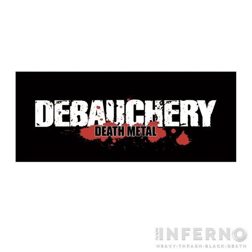 Debauchery - Logo Szövött Felvarró