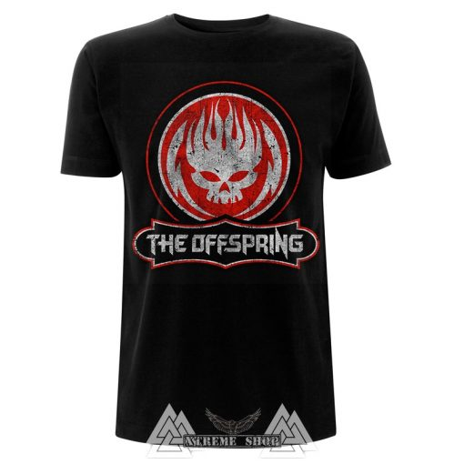 THE OFFSPRING - DISTRESSED SKULL PÓLÓ