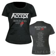ACCEPT Restless and live női póló