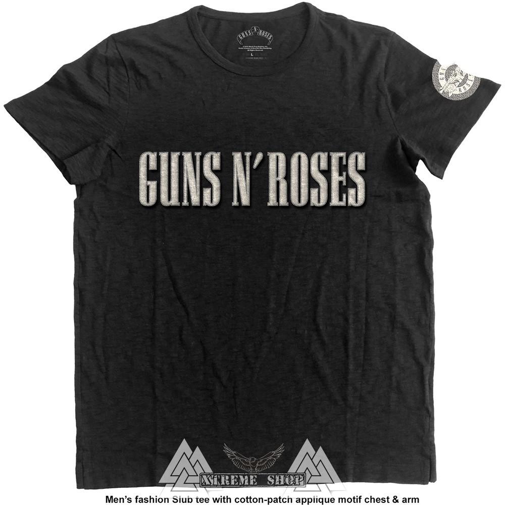 1b8b5773b4 GUNS N' ROSES - LOGO & BULLET CIRCLE PÓLÓ - Xtreme Shop