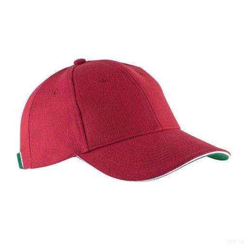 Baseball sapka - piros-fehér-zöld