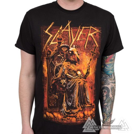 SLAYER T-SHIRT - GOAT SKULL PÓLÓ