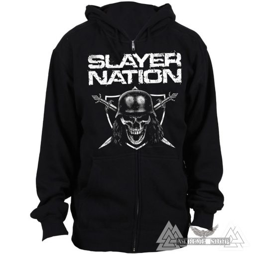 SLAYER ZIP HOODIE - SLAYER NATION CIPZÁRAS PULÓVER