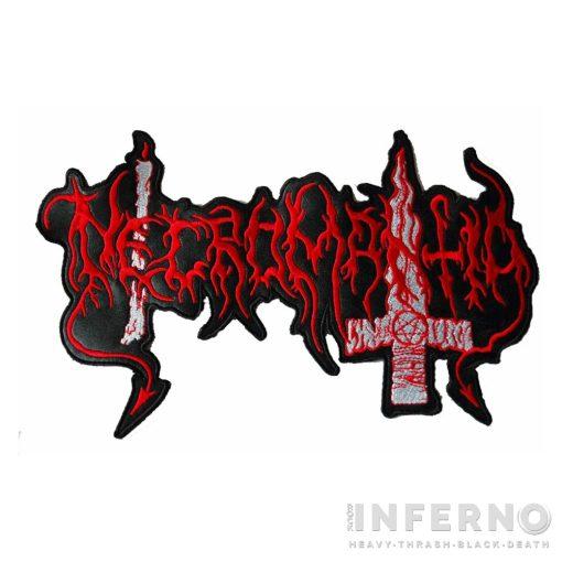 Necromantia Logo Hímzett hátfelvarró