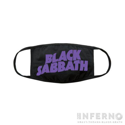 Black Sabbath - Logo 2 rétegű arcmaszk