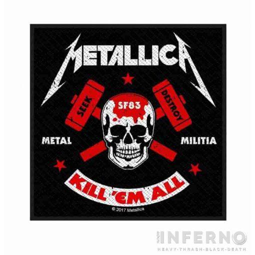 METALLICA - Metal militia szövött felvarró