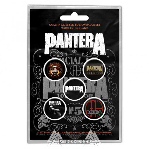 Pantera - 101 Proof Kitűző szett