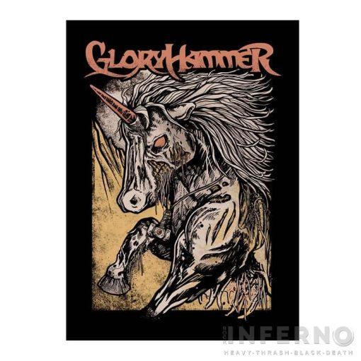 Gloryhammer - Zombie Unicorn Szövött felvarró