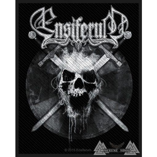Ensiferum - Skull Szövött felvarró