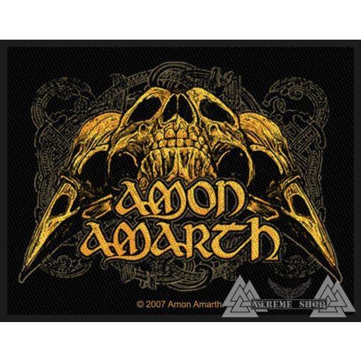 Amon Amarth - Raven Skull Szövött felvarró
