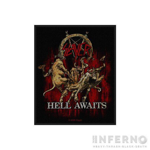 Slayer - Hell Awaits Szövött felvarró