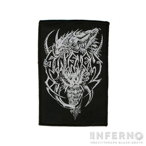 Sinister - Devil Logo 14,5x9,5 cm Szövött felvarró