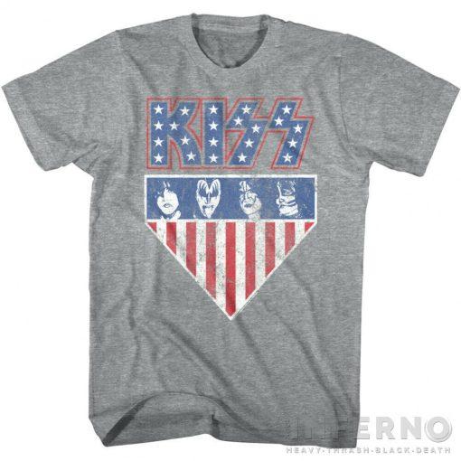 Kiss - USA Stars & Stripes Flag Póló