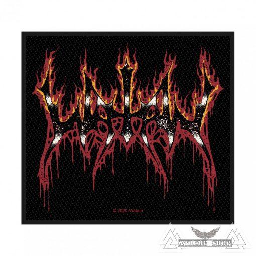 Watain - Flaming Logo Szövött felvarró