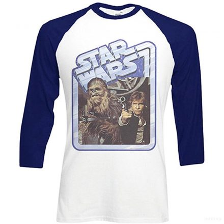 Star Wars Hosszú Ujjú Póló - Classic Chewie & Han Solo