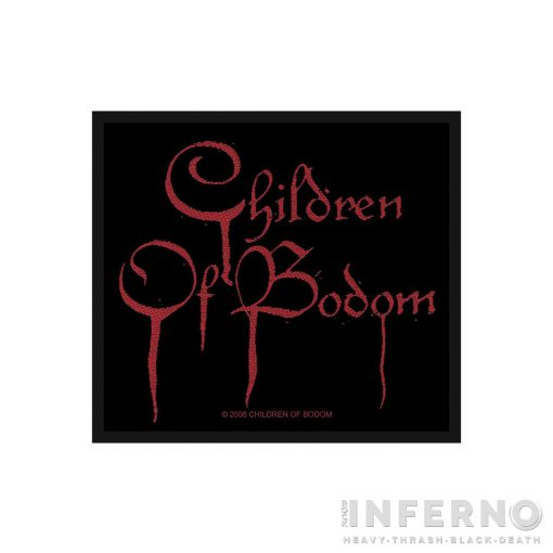 CHILDREN OF BODOM - Blood logo Szövött felvarró