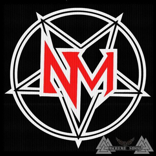 Nevermore - Penta Logo Szövött Felvarró