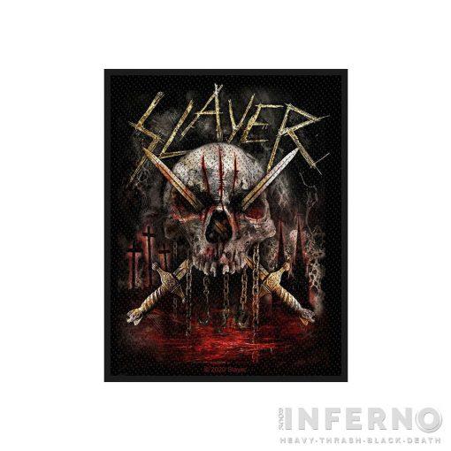 Slayer - Skull & SwordsSzövött felvarró