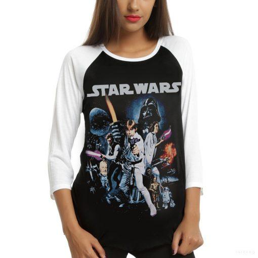 Star Wars Hosszú Ujjú Női Póló - Star Wars Classic Poster