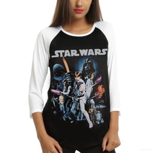 Star Wars - Classic Poster Hosszú Ujjú Női Póló