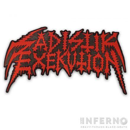 Sadistik Exekution Logo Hímzett hátfelvarró
