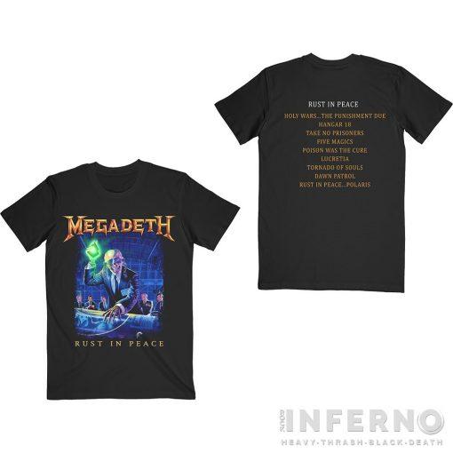 MEGADETH - RUST IN PEACE TRACKLIST PÓLÓ