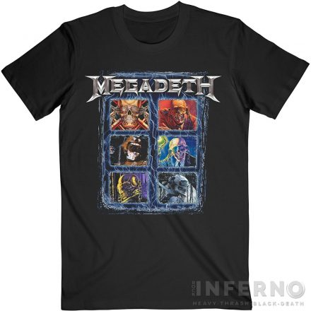 Megadeth - Vic Head Grid póló